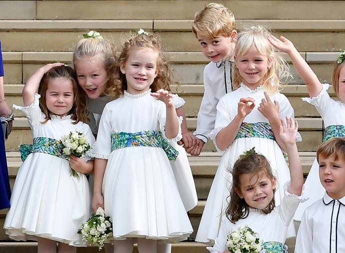 **EVERY ROYAL WEDDING PARTY MUST INCLUDE A CROP OF CHILDREN.** <br><br> Royal wedding parties are usually made up of young children.