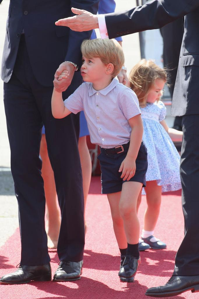 **EVEN PRINCE GEORGE HAS A DRESS CODE.** <br><br> He always wears tailored shorts, never pants.