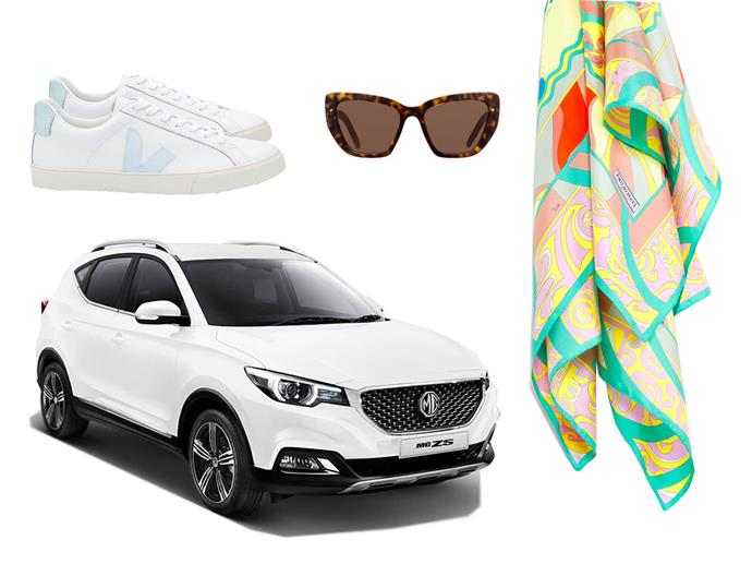 """**THE ESSENTIALS**<br><br>  While your destination will have no shortage of delicious cuisine and things to do, no road trip is complete without a set of stylish wheels, a silk scarf, elegant shades and some chic sneakers made for exploring. Bon voyage!<br><br>  *From left to right, clockwise: Esplar White Menthol by VEJA, approx. $160 from [VEJA](https://www.veja-store.com/en/women/3060-esplar-leather-extra-white-menthol-.html
