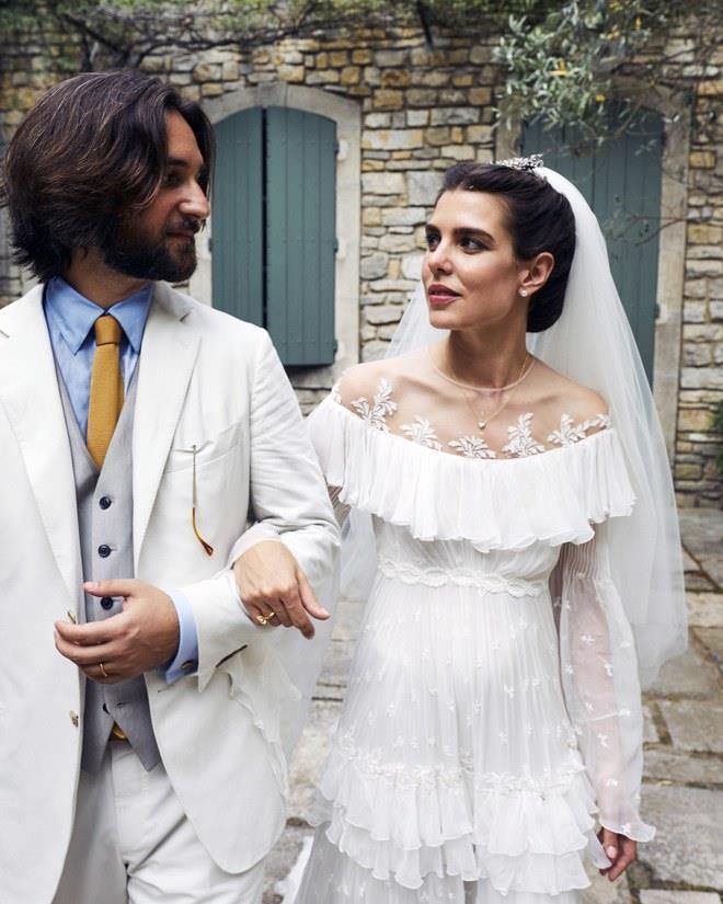 **Charlotte Casiraghi in Giambattista Valli Couture** Unlike many brides, Charlotte Casiraghi actually has Old Hollywood lineage (her grandmother is none other than Grace Kelly). Though the Monégasque princess's gown from her 2019 wedding was actually modelled off the wedding dress of her mother, Princess Caroline, it had a distinctly Old Hollywood feel. <br><br> *Image: Félix Dol-Maillot*