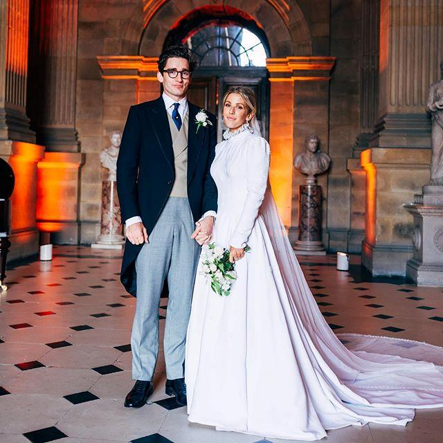 """**Ellie Goulding in Chloé** Goulding married contemporary art dealer Caspar Jopling in September 2019, and wore a Chloé gown by the brand's creative director, Natacha Ramsay-Levi. Fashion enthusiasts were quick to notice that the gown almost identically resembled Audrey Hepburn's [Balmain wedding dress](https://www.harpersbazaar.com.au/bazaar-bride/popular-celebrity-wedding-dresses-19397
