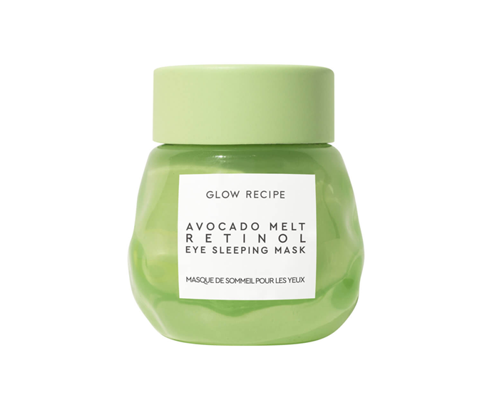 "**Avocado Melt Retinol Eye Sleeping Mask by Glow Recipe, $64 at [MECCA](https://www.mecca.com.au/glow-recipe/avocado-melt-retinol-eye-sleeping-mask/I-040101.html|target=""_blank"")**<br> Avocado and retinol may get top billing (and deservedly so—they're dynamite in the anti-ageing arena), but malachite serves as the unsung hero of this formula, teaming up with the aforementioned all stars to convincingly conceal the telltale signs of sleep deprivation."