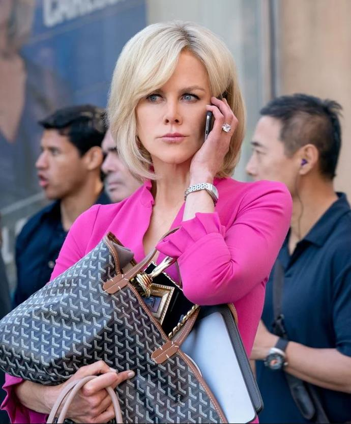 "**Gretchen Carlson really did record her conversations with Roger Ailes for over a year in the lead-up to her firing**<br><br>  During the third act of the film, Gretchen Carlson (portrayed by Nicole Kidman) finally suceeds in her case against Roger Ailes by dramatically revealing that she'd been recording his conversations with her in the year or so leading up to her firing.<br><br>  Per the [*New York Times*](https://www.nytimes.com/2016/07/07/business/media/gretchen-carlson-fox-news-roger-ailes-sexual-harassment-lawsuit.html|target=""_blank""), in one of the most incriminating of the recordings, Roger can be heard saying to her ""I think you and I should have had a sexual relationship a long time ago.""<br><br>  Gretchen went on to receive approximately AUD $28 million in the settlement."