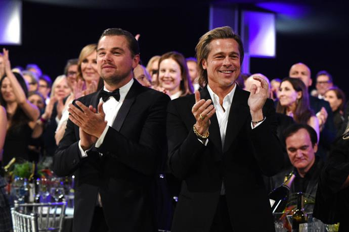 Leonardo DiCaprio and Brad Pitt at the 26th Annual Screen Actors Guild Awards on January 19, 2020.