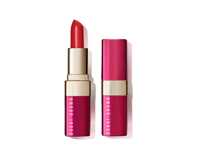 "**Luxe Lip Colour in Luxe & Fortune Limited Edition Parisian Red, $56 by [Bobbi Brown](https://www.bobbibrown.com.au/product/2342/74637/makeup/lips/lip-color/luxe-lip-color/luxe-fortune-collectionion?gclid=Cj0KCQiAvJXxBRCeARIsAMSkApqx0kiQ-U2jkbGCgv64NaaNddjJOWdzrePoGTUtpM4v3BRIFEXmr-EaAgI_EALw_wcB&gclsrc=aw.ds#/shade/Parisian_Red|target=""_blank"")**"