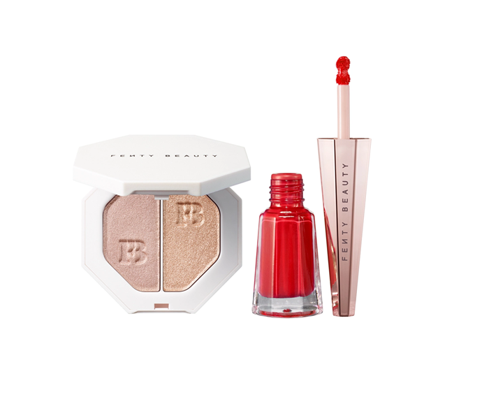 "**Stunna New Year Highlighter + Lip Set Lunar New Year (Limited Edition) by Fenty Beauty, $75 at [Sephora](https://www.sephora.com.au/products/fenty-beauty-stunna-new-year-highlighter-plus-lip-set-lunar-new-year-limited-edition/v/default|target=""_blank"")**"