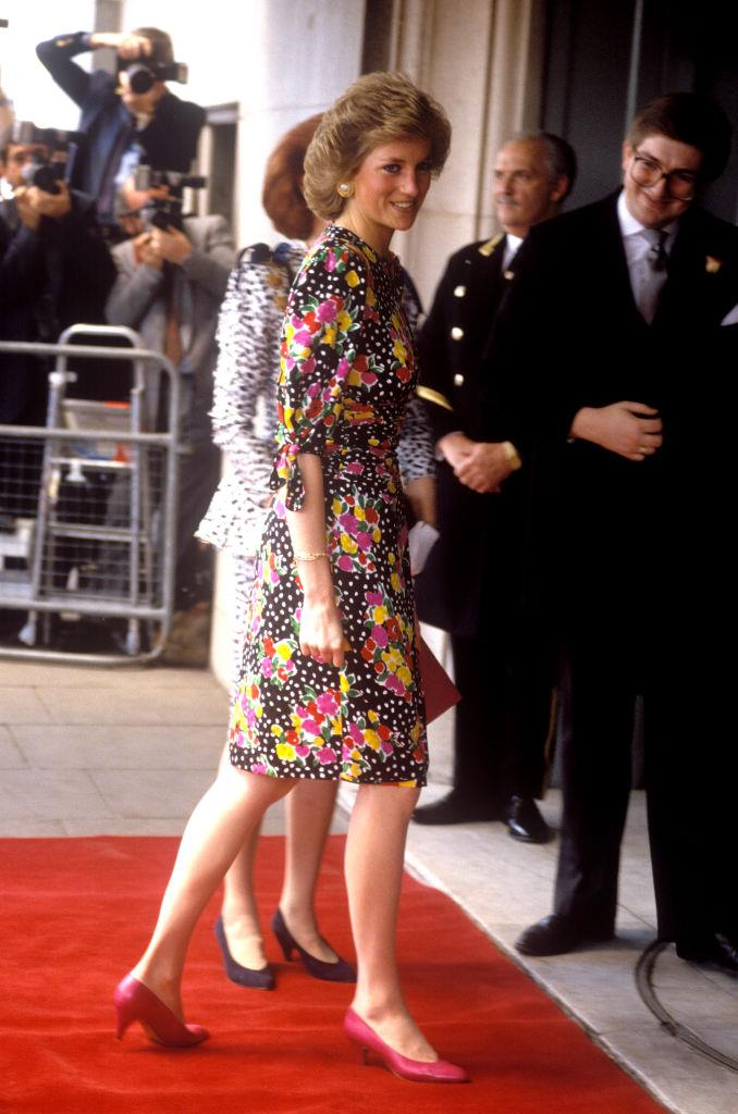 Diana, Princess of Wales, arriving at the Savoy Hotel in London on May 4, 1989.