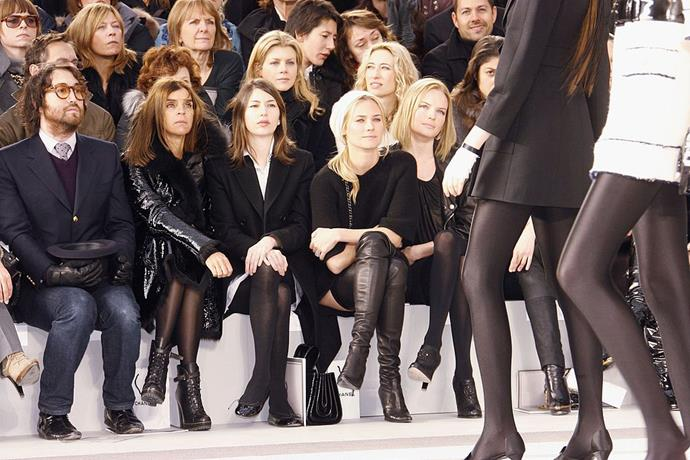 Sean Lennon, Carine Roitfeld, Sofia Coppola, Diane Kruger and Kate Bosworth at Chanel Haute Couture spring/summer '07.