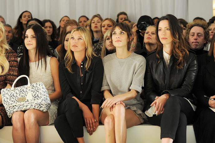 Lana Del Rey, Kate Moss, Alexa Chung and Rebecca Hall at Mulberry spring/summer '13.