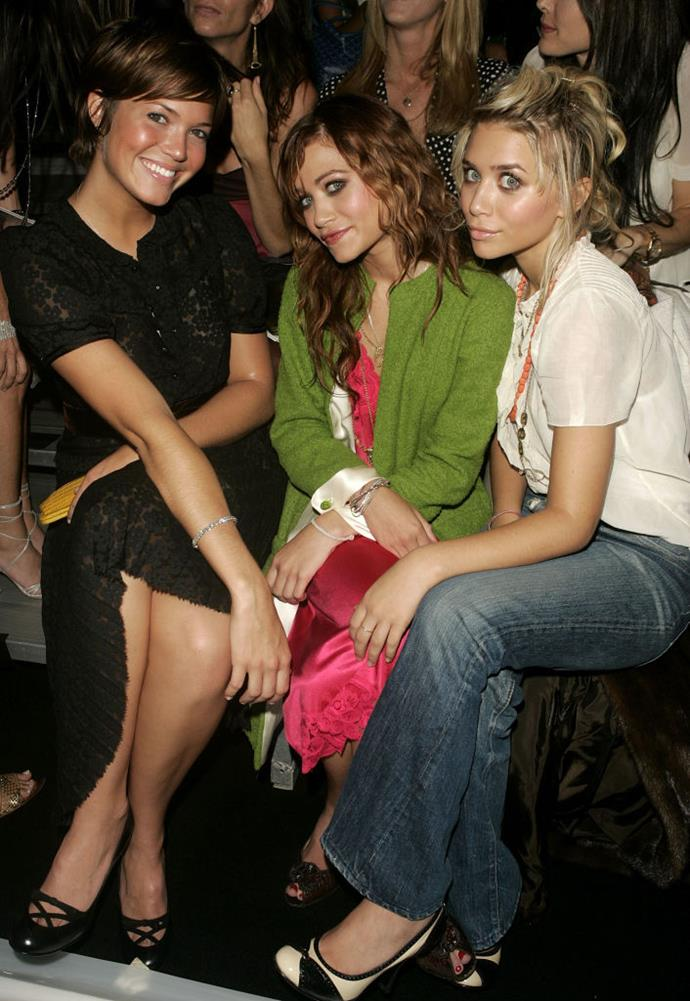 Mandy Moore, Mary-Kate Olsen and Ashley Olsen at Marc Jacobs spring/summer '05.