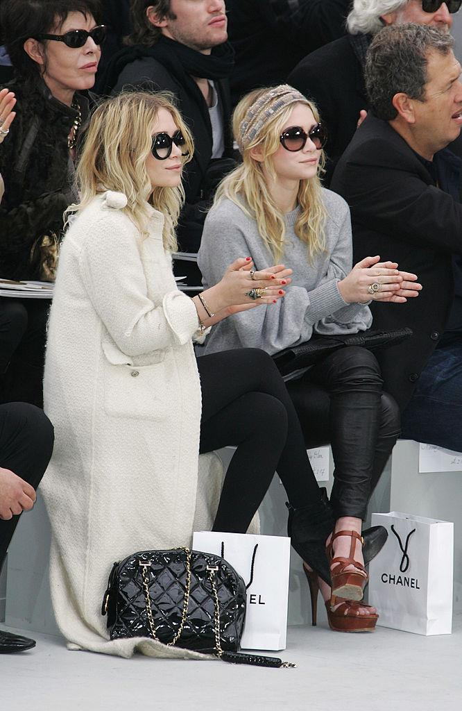 Ashley Olsen and Mary-Kate Olsen at Chanel autumn/winter '08.