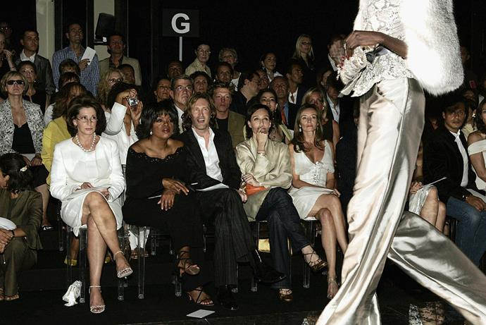 Oprah Winfrey and Kristin Scott-Thomas at Valentino spring/summer '05.