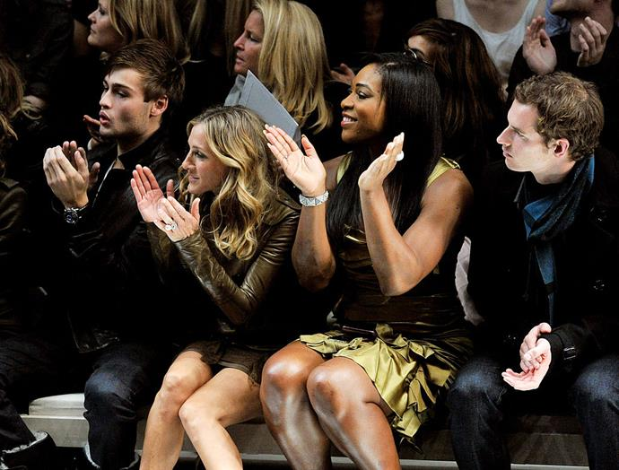 Sarah Jessica Parker and Serena Williams at Burberry Prorsum spring/summer '11.