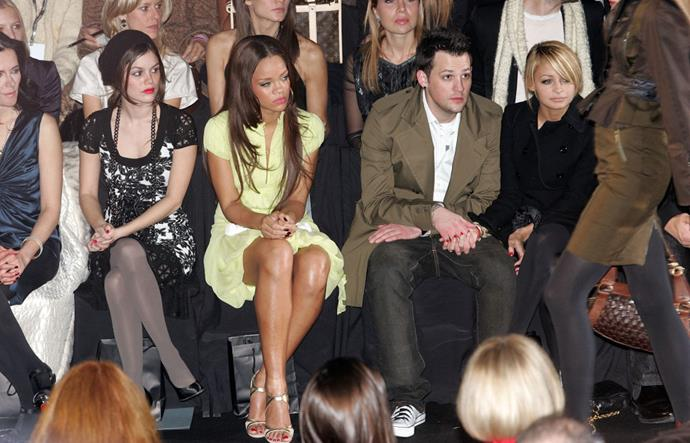 Rachel Bilson, Rihanna, Joel Madden and Nicole Richie at Zac Posen autumn/winter '08.