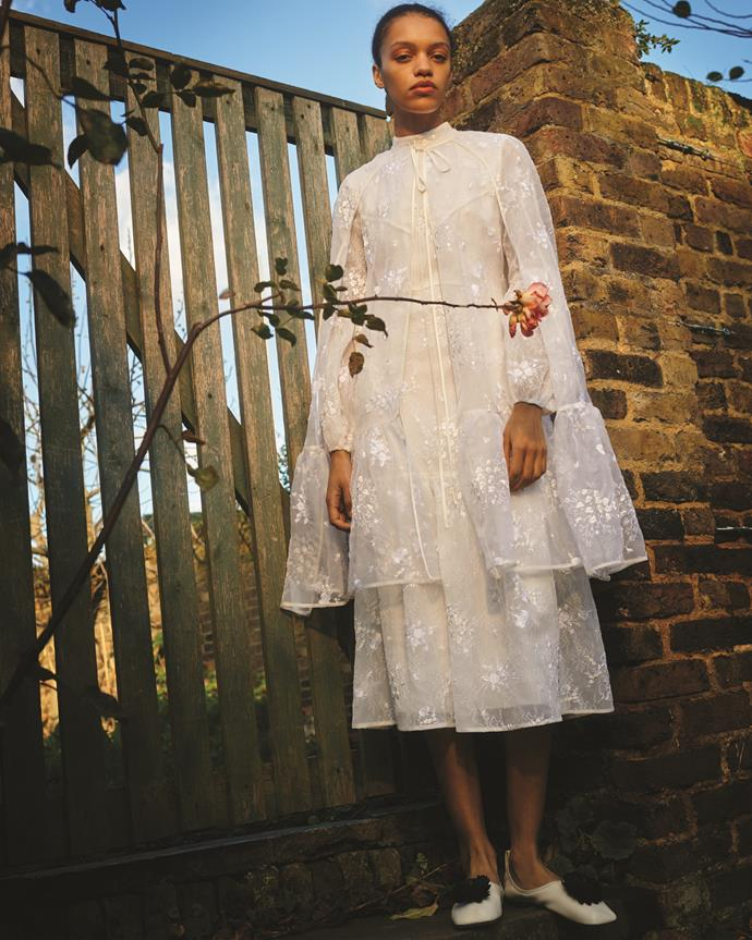 Erdem Cape, Erdem Dress, Loewe Shoes at MATCHESFASHION.
