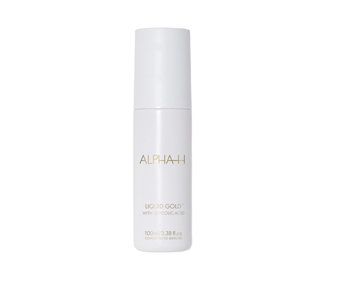 "**Liquid Gold by Alpha-H, $60 at [Sephora](https://www.sephora.com.au/products/alpha-h-liquid-gold/v/100ml|target=""_blank"")**<br> Billed by fans of the brand as an 'overnight facial', this licorice and glycolic acid packed peel is more than deserving of its devoted following."