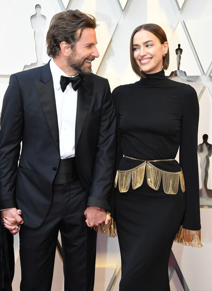 Bradley Cooper and Irina Shayk arrives at the 91st Annual Academy Awards at Hollywood on February 24, 2019.