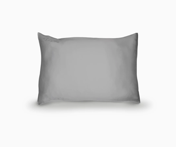 """**Silk Pillowcase in Grey, $89 at [Ecosa](https://www.ecosa.com.au/silk-pillowcase-grey