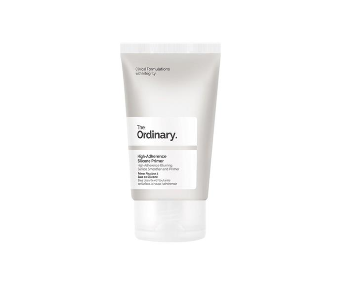 "**High-Adherance Silicone Primer, $8.80 by [The Ordinary](https://theordinary.com/product/rdn-high-adherence-silicone-primer-30ml|target=""_blank"")**<br> A blurring, brightening dream that locks makeup in for the long haul."