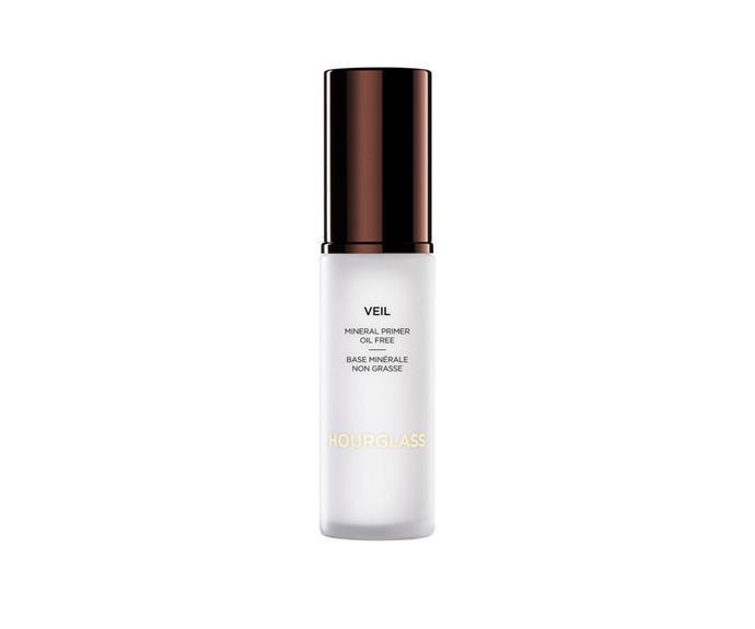 "**Veil Mineral Primer SPF15 by Hourglass, $83 at [MECCA](https://www.mecca.com.au/hourglass/veil-mineral-primer-spf-15/V-007520.html?cgpath=makeup-complexion-primer|target=""_blank"")**<br> A silky, weightless formula that glides over skin and helps makeup do the same."