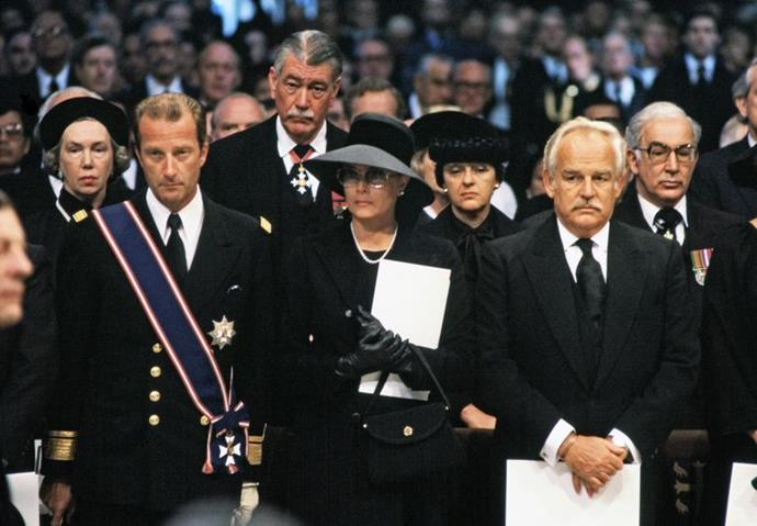 Princess Grace of Monaco at Lord Mountbatten's funeral.