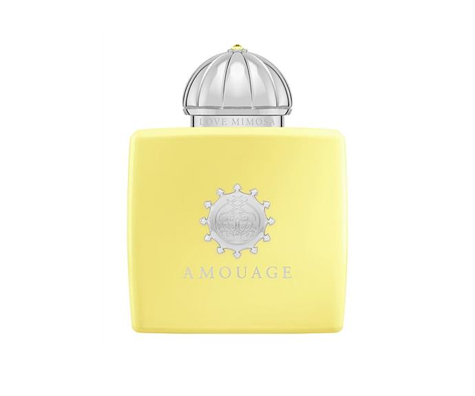 "**Love Mimosa EDP by Amouage, $499 at [David Jones](https://www.davidjones.com/beauty/fragrance/womens-perfume/22959284/LOVE-MIMOSA-EDP-100ML.html|target=""_blank"")**<br> This lively mimosa, ambroxan and ylang ylang splash is as energetic and impossible to ignore as the butter-yellow bottle it's housed in."