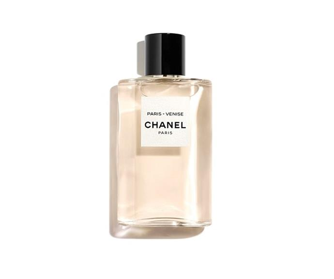 "**Les Eaux De Chanel Paris-Venise EDT by Chanel, $115 at [David Jones](https://www.davidjones.com/Product/22673798?istCompanyId=466a8370-6b00-4f27-87e1-ca6839e80dd6&istFeedId=e623e8fb-2ac0-43c5-9b01-5f07405aa50c&istItemId=waqqwmmqq&istBid=t&gclid=CjwKCAiAg9rxBRADEiwAxKDTum9T3gS1tGUmMijL1Si3dbsp0xPYuy5RkFIOspo00oqSBRVO8f0w5BoCWc4QAvD_BwE&gclsrc=aw.ds|target=""_blank"")**<br> Longing to visit Venice? Allow this drop to act as your perfume passport; notes of vanilla and neroli will transport you to the City of Water in a single whiff."
