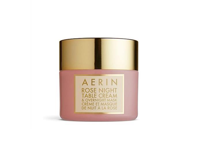 "**Rose Infused Night Cream by Aerin, $115 at [David Jones](https://www.davidjones.com/Product/20823345?istCompanyId=466a8370-6b00-4f27-87e1-ca6839e80dd6&istFeedId=e623e8fb-2ac0-43c5-9b01-5f07405aa50c&istItemId=wppwtpwml&istBid=t&gclid=CjwKCAiAg9rxBRADEiwAxKDTuk1JhvGfY5YIW2Nh7OlGHLLkUC4vogNw1JIVGIi9LEXqgdFmYi31NBoC-lEQAvD_BwE&gclsrc=aw.ds|target=""_blank"")**<br> Consider dull, dehydrated skin both brightened and quenched."