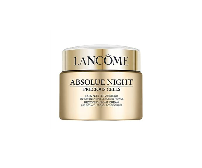 """**Absolue Precious Cells Night Cream by Lancôme, $420 at [David Jones](https://www.davidjones.com//20973357/Absolue-Precious-Cells-Night-Cream.html