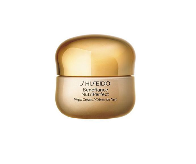 """**Benefiance NutriPerfect Night Cream by Shiseido, $159 at [MECCA](https://www.mecca.com.au/shiseido/benefiance-nutriperfect-night-cream/I-040663.html