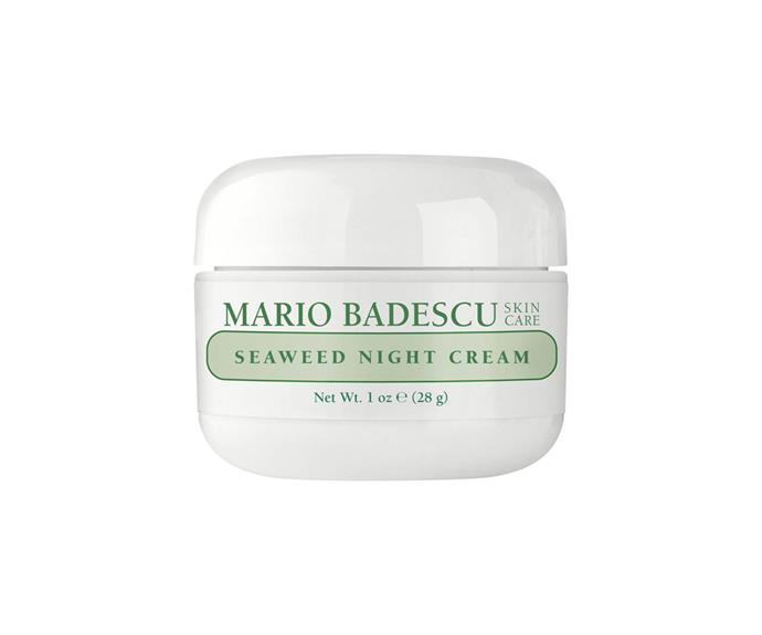 "**Seaweed Night Cream by Mario Badescu, $34 at [MECCA](https://www.mecca.com.au/mario-badescu/seaweed-night-cream/I-004664.html|target=""_blank"")**<br> A moisture-replenishing, glow-boosting, skin-softening steal."