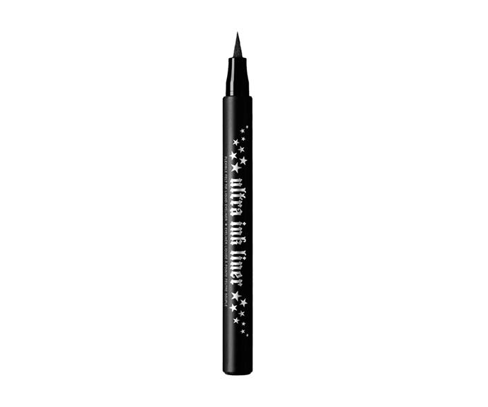 """**Ultra Ink Liner by Kat Von D Beauty, $30 at [Sephora](https://www.sephora.com.au/products/kat-von-d-beauty-ultra-ink-liner/v/trooper-black