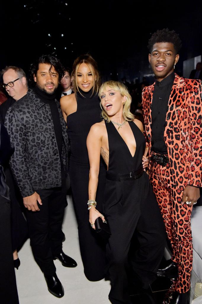 Russell Wilson, Ciara, Miley Cyrus and Lil Nas X