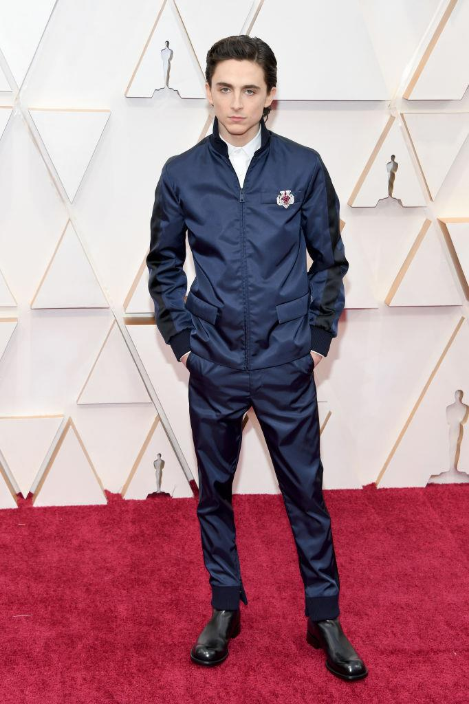 "**Timothée Chalamet in Prada** <br><br> ""Prada paramedic Timothée Chalamet brought me back to life."" *— Alexandra English, Copy Editor* <br><br> ""At this point, there's very little in the known universe that can't be given the Timothée touch on the red carpet, including, apparently, the uniform of a technical sergeant from Elon Musk's private space army. There are no creases in zero gravity..."" *— Tom Lazarus, Copy Director*"