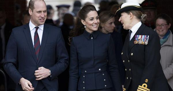 Kate Middleton Steps Out in a Chic Military-Inspired Outfit