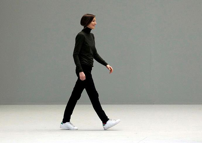 Phoebe Philo in her signature sneakers—Adidas 'Stan Smiths'—at Céline autumn/winter '11.