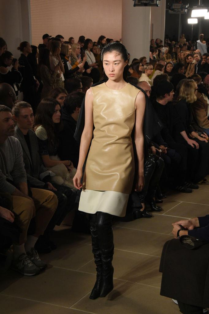 **Proenza Schouler** <br><br> With head-to-toe leather returning back to the fashion forefront, we're absolutely here for this impossibly chic two-tone midi-dress. <br><br> *Image: Getty*