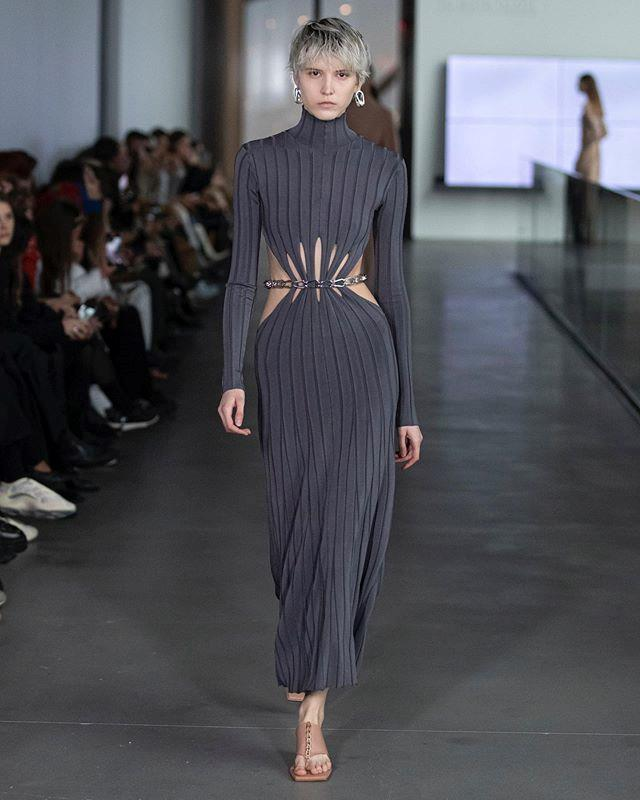 """**Dion Lee** <br><br> For his autumn/winter '20 presentation, Australian fashion hero Dion Lee presented a collection that pertained to his futuristic, sleek vision, involving *Blade Runner*-style cutouts and chains in all the right places. <br><br> *Image: Instagram [@dionlee](https://www.instagram.com/p/B8cKUwyFN9A/ target=""""_blank"""" rel=""""nofollow"""")*"""