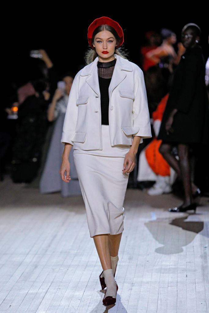 Gigi Hadid on the runway.