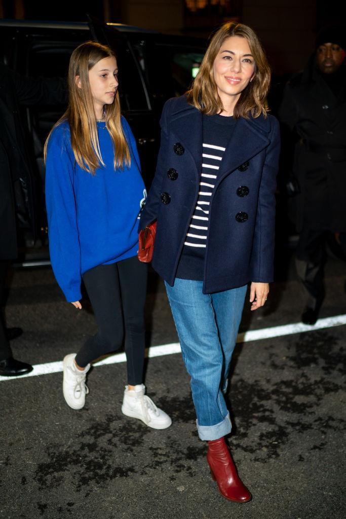 Sofia Coppola and her daughter, Romy Mars
