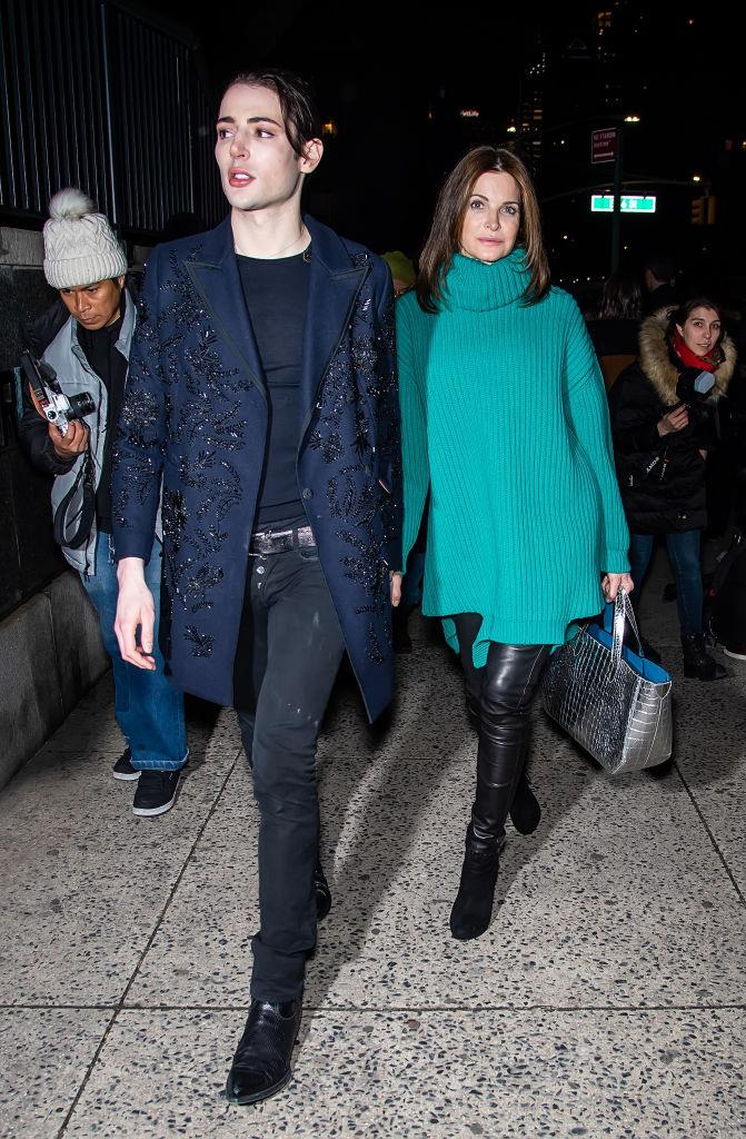 Stephanie Seymour with her son, Harry Brant
