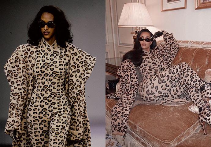 In Azzedine Alaïa autumn/winter '91 at Paris Fashion Week in March 2019.