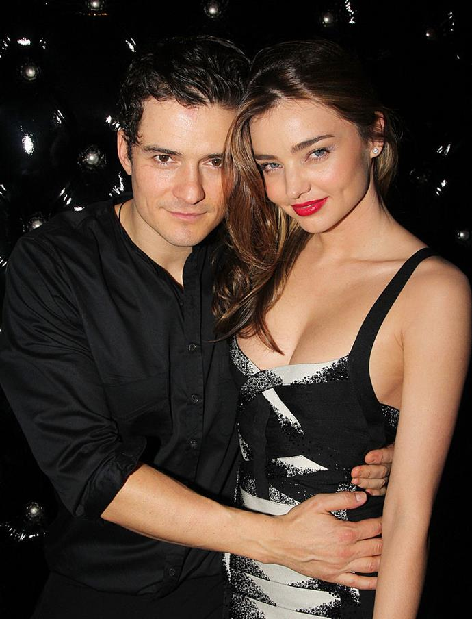 **Miranda Kerr and Orlando Bloom** <br><br> Australian supermodel Miranda Kerr was married to English actor Orlando Bloom between 2010 and 2013, and the couple had one son together, Flynn Christopher Bloom. Kerr is now married to Snapchat mogul Evan Spiegel, while Bloom became engaged to performer Katy Perry in February 2019.