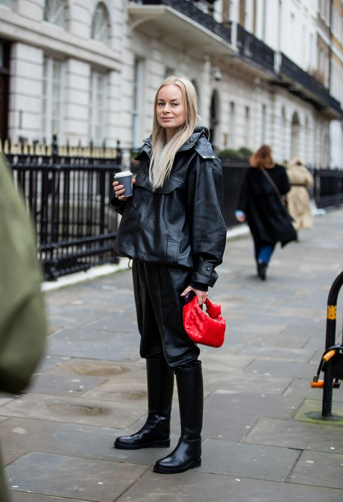 **Chunky Boots** <br><br/> The trend for anti-elegant footwear is showing no sign of slowing down with Londoners embracing chunky boots—or stomping boots, as they were known in the 60s and 80s. A deluge of storm water couldn't penetrate these heavy-soled styles.