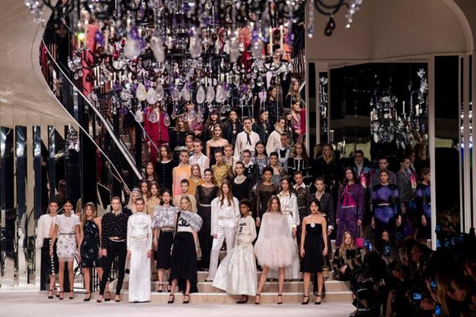 Chanel Métiers d'Art show in Paris, December 2019.
