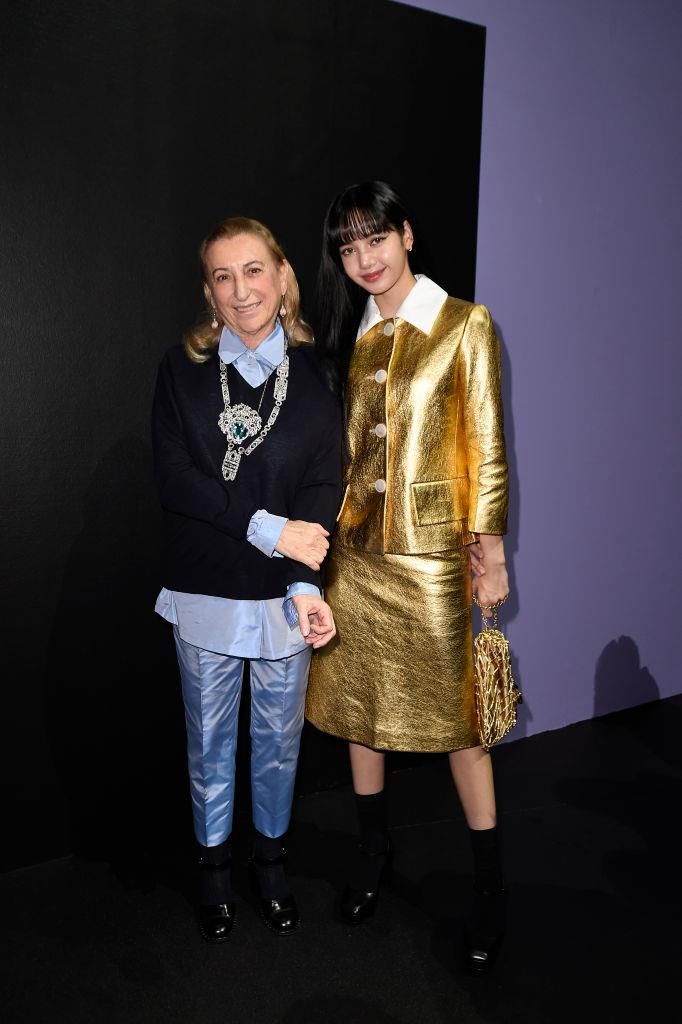 Lisa with Miuccia Prada