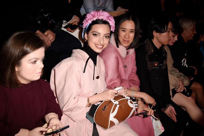 Sinéad Burke, Noor Tagouri and Eva Chen