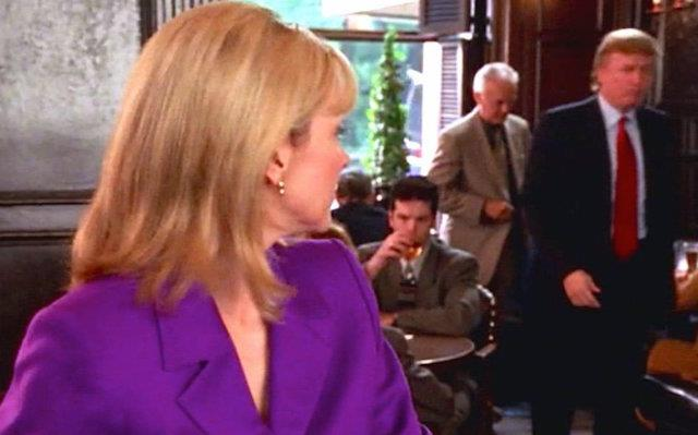 **Donald Trump (season two, episode eight)** <br><br> Long before he became President, Donald Trump was known for his esteemed social status in Manhattan, so of course he was bound to have a fictional run-in with Samantha Jones. It would be another 17 years before Trump was elected President, and the knowledge of his real-life chaotic presidency makes this scene slightly odd to watch in 2020.