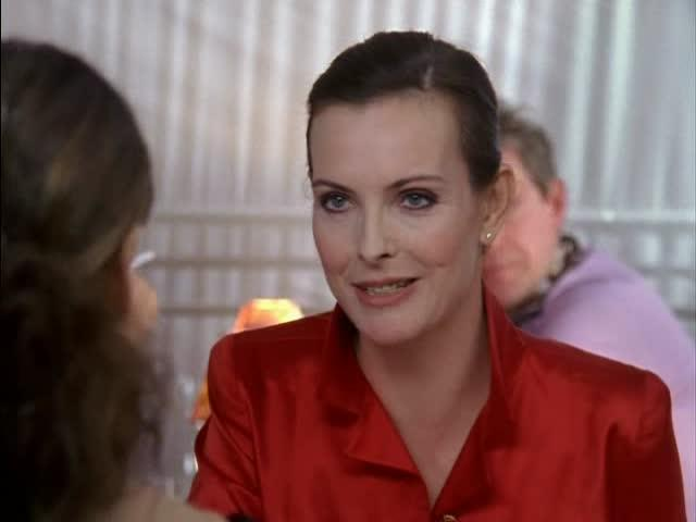 **Carole Bouquet (season six, episode 20)** <br><br> Bouquet is a famous French model and actress, and was famously the face of Chanel No. 5 in the 1980s. She appeared in the last-ever episode of *SATC* as the French ex-lover of Carrie's Russian boyfriend, Alexsandr Petrovsky, and the two women get lunch together in a swanky Parisian restaurant.