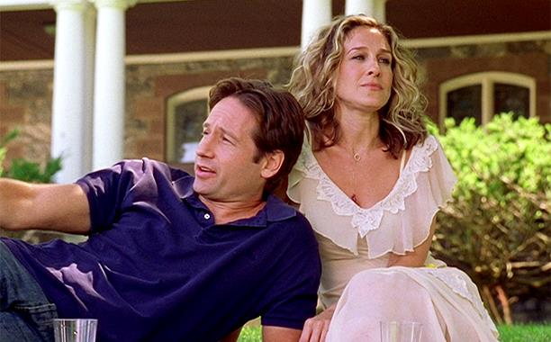 **David Duchovny (season six, episode 10)** <br><br> Appearing in the same episode as Geri Halliwell, *The X-Files* star Duchovny appeared as a romantic interest of Carrie's, who she lovingly supports through his time in rehab.